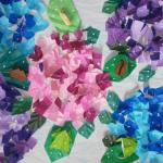 紫陽花 6月がテーマのご利用者の共同作成品が完成しました