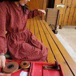 糸紡ぎは、まだまだ仮免未満……。